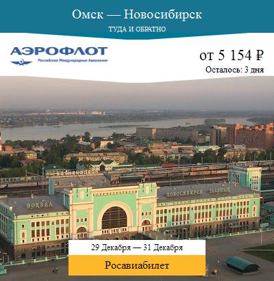Дешёвый авиабилет Омск — Новосибирск