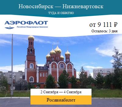Дешёвый авиабилет Новосибирск — Нижневартовск