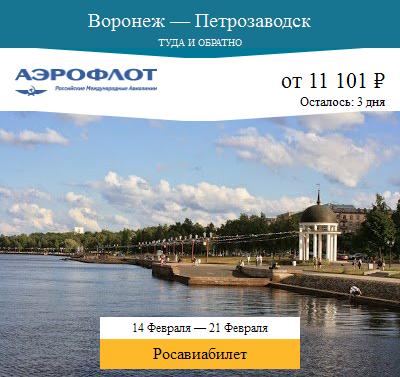 Дешёвый авиабилет Воронеж — Петрозаводск
